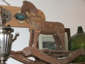 Beautiful early 1900 , wooden rocking horse