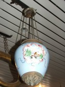 pre 1900 hanging candle lamp