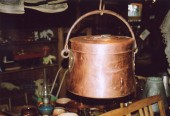 ca 1850 , copper pott w lid