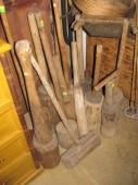 Wooden tools...