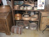 Different antique wooden items