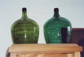 pre 1900 large green bottles