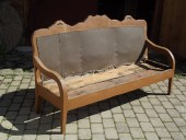 Large rustic bench ca 1850 , pine