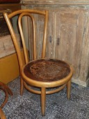 Renovated chair with short legs , early 1900