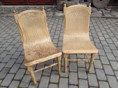 ANTIQUE LUTERMA FACTORY CHAIR ( the left one ...)