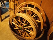 Antique spinng wheels parts / nice and clean