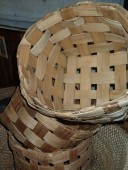 Antique handmade baskets