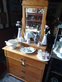 Chest of drawers w mirror , early 1900 , renovated