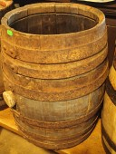 Antique oak barrel