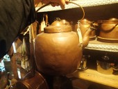 Very large copper cofee - pot