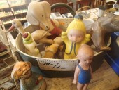 Antique rubber toys