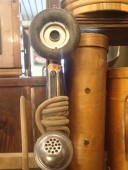 Antique wall phone handset