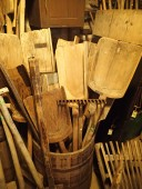 Antique large wooden shovels