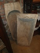 Antique onepieceofwood  troughs