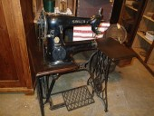 Antique leather sewing maschine