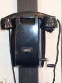 Antique ERICSSON bakelite wall phone