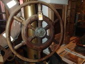 Antique ship steering wheel