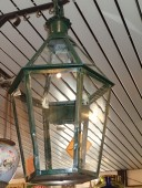 LARGE , Antique green paint LANTERN