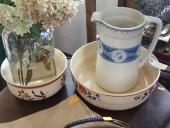 Water jug & bowls
