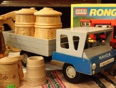 WOODEN CAR , TRUCK , made in 1979